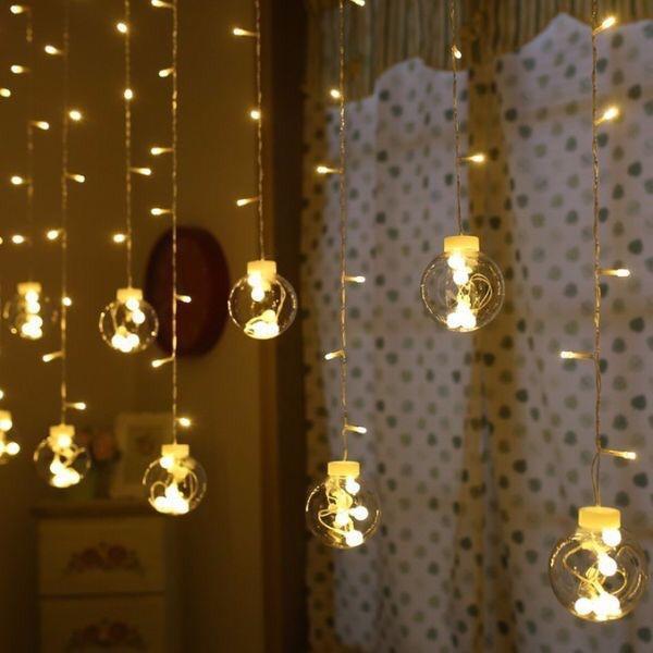 Bộ đèn LED 12 dây hình quả cầu