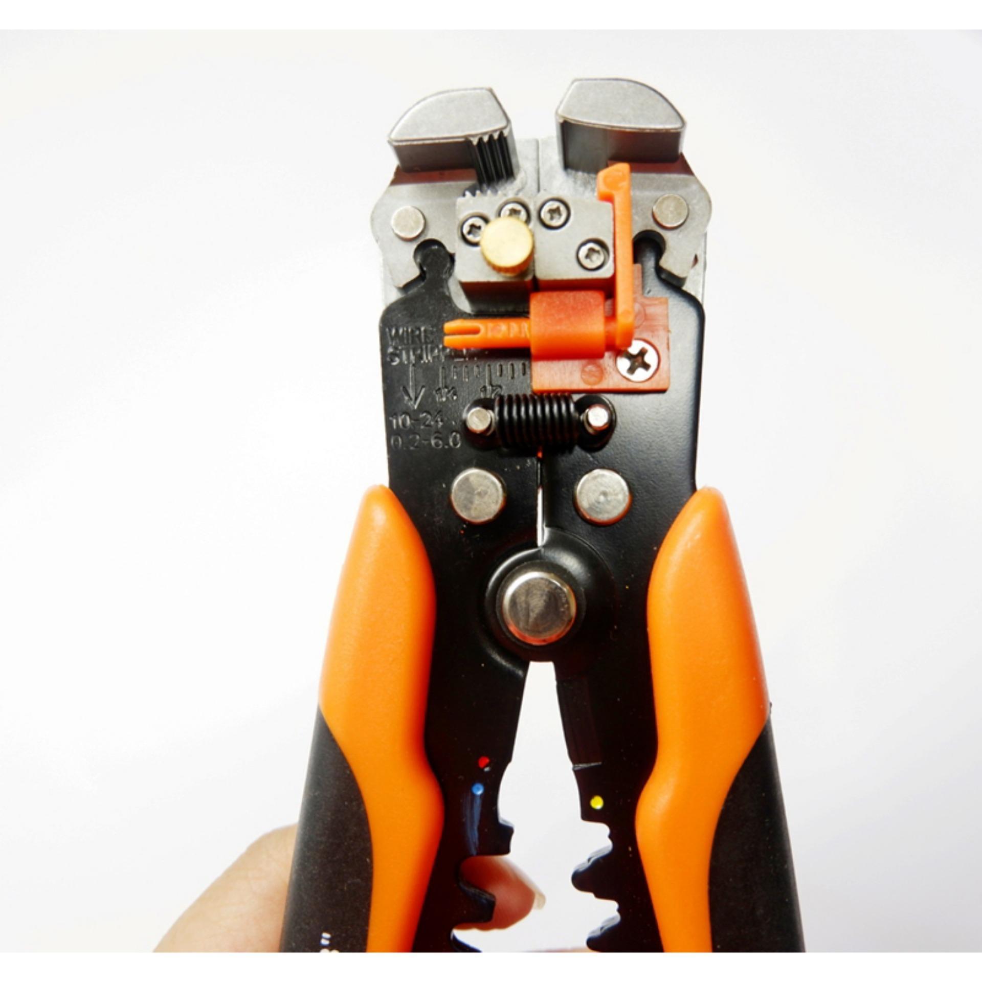 Tuốt vỏ dây điện -Kìm Tuốt Dây Điện và bấm cos Asaki AK-0339