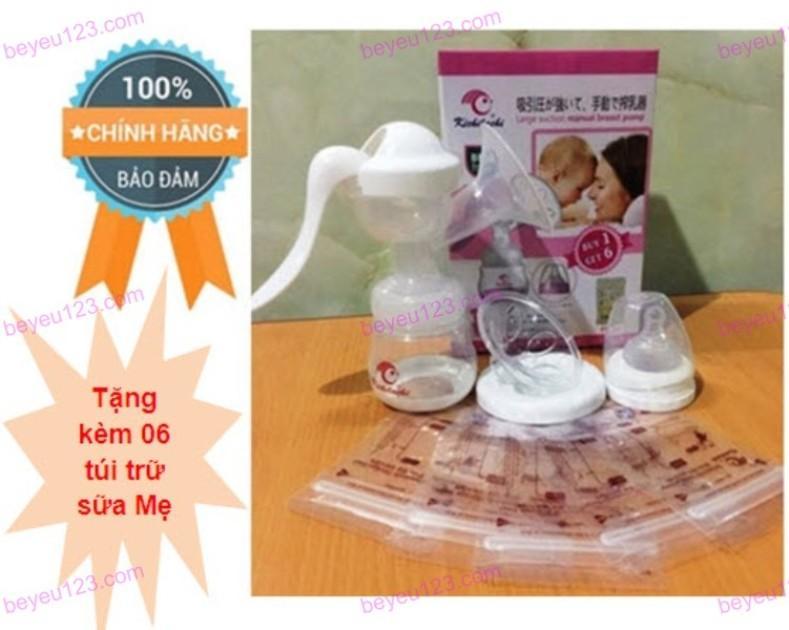 Giá Bán May Hut Sữa Mẹ Cầm Tay Kichilachi Nhật Tim Hồng Xanh Trắng Vang Tặng Kem 06 Tui Trữ Sữa Tốt Nhất