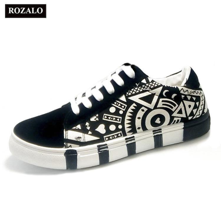 Giá Bán Giay Sneaker Thời Trang Nam In Họa Tiết Rozalo Rm5662 Sportmax Tốt Nhất