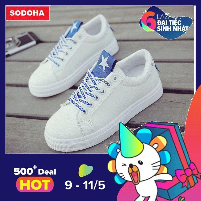 Giá Bán Giay Sneaker Thời Trang Nữ Top New Sodoha Sn6689Tx Trắng Phối Xanh Trực Tuyến