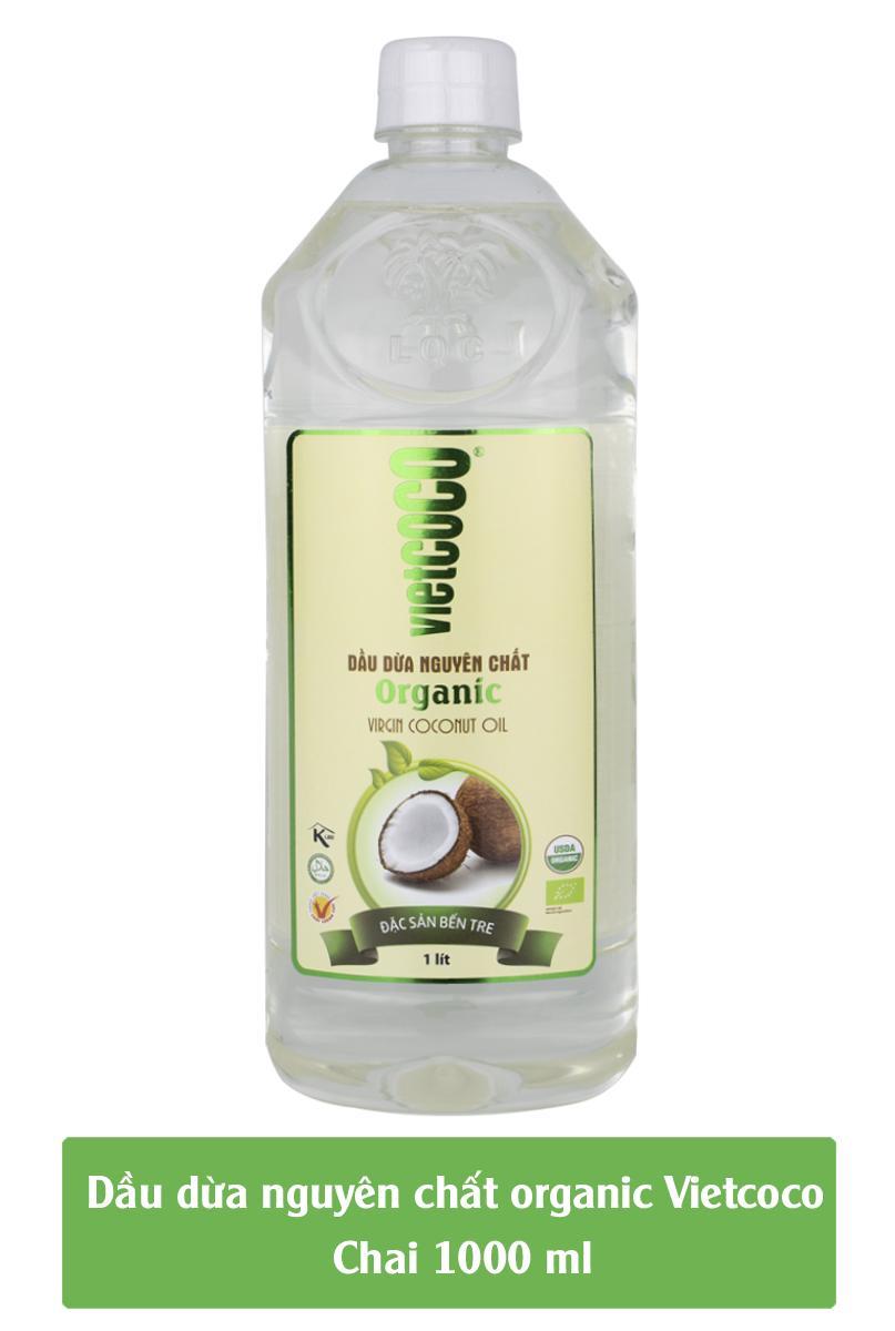 Hình ảnh Dầu dừa nguyên chất Organic Vietcoco chai pet 1000ml