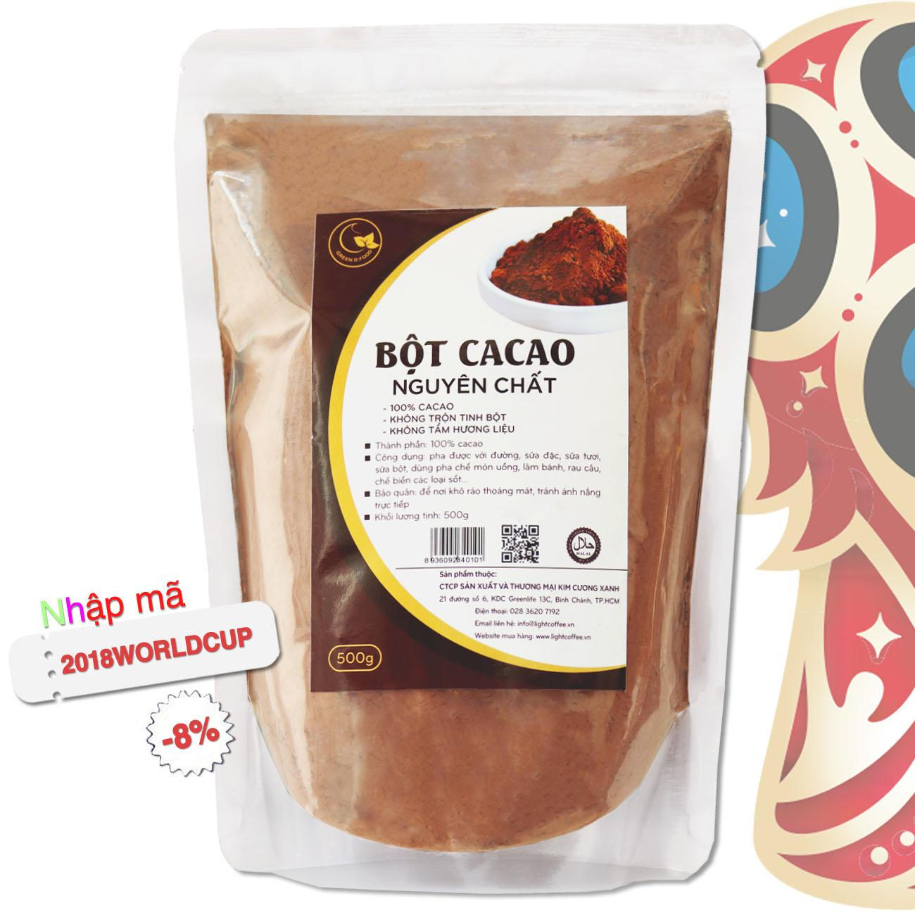 Hình ảnh Cacao nguyên chất 100% - Bột cacao - Light Ca cao - 500gr