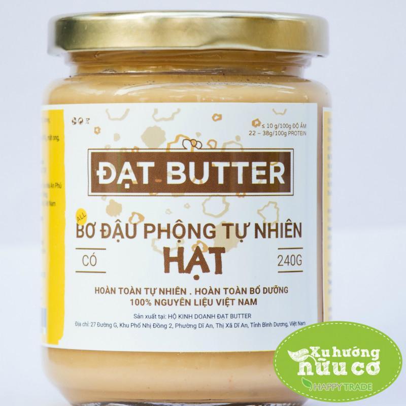Hình ảnh Bơ đậu phộng tự nhiên có hạt Đạt Butter (hũ 240g)