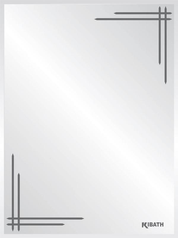 Gương soi cao cấp KIBATH 450x600mm – TT-206