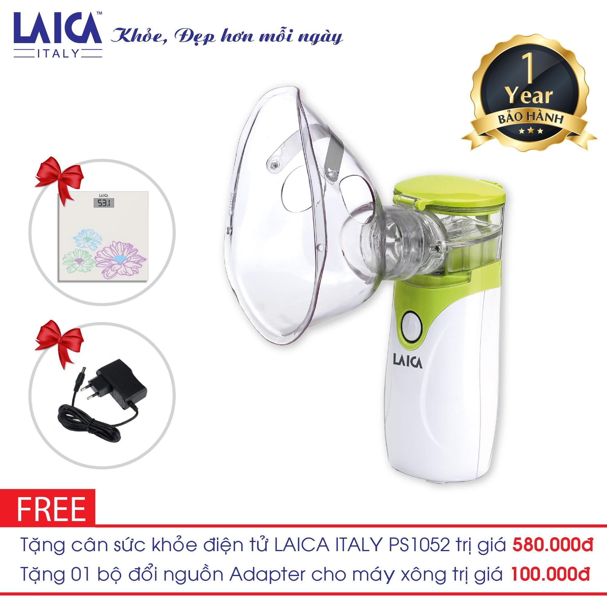 Hình ảnh Máy xông mũi họng LAICA NE1005 tặng Cân điện tử Laica Italy PS1052