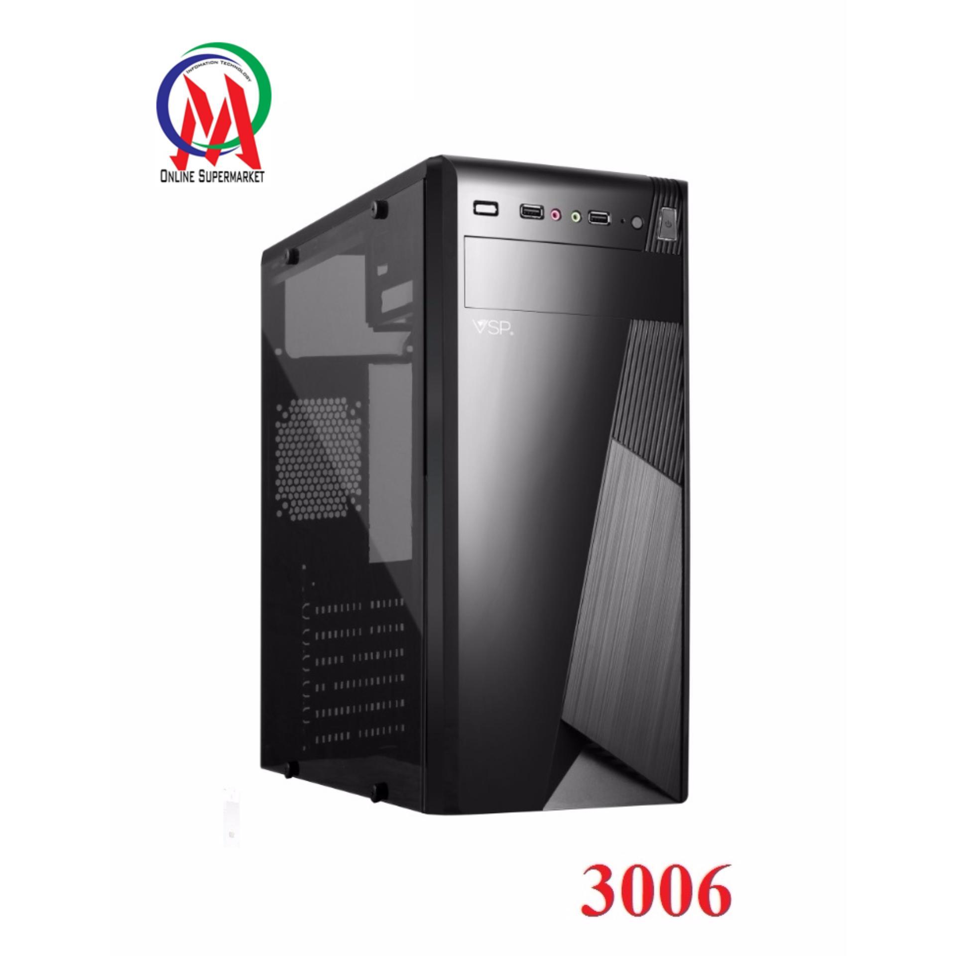 Hình ảnh Vỏ Case máy tính VSP 3006 Full Kính bên hông trong suốt sơn tĩnh điện