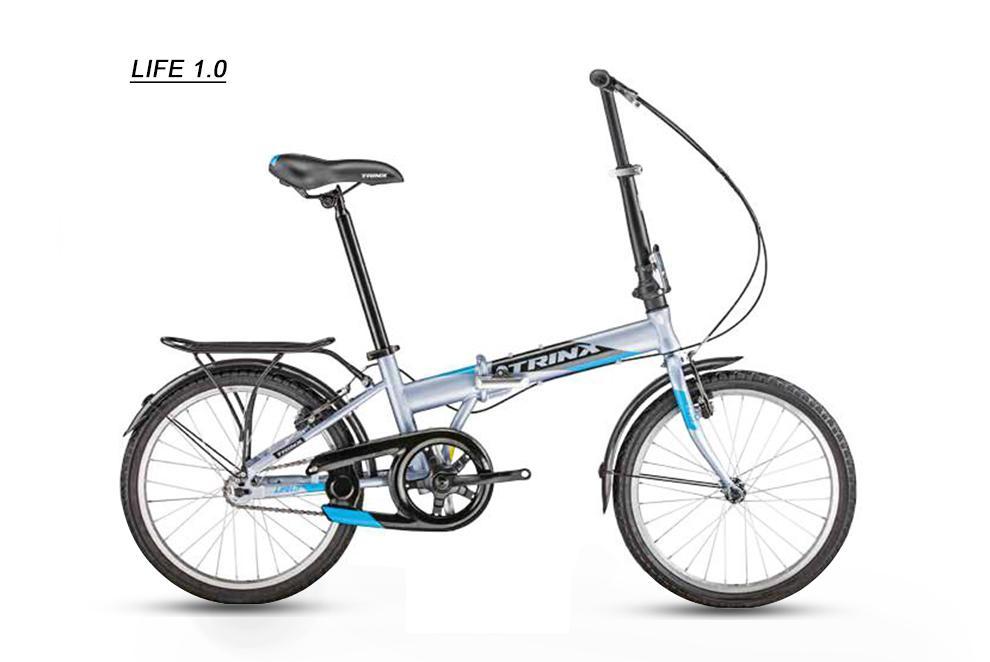 Xe đạp gấp Trinx LIFE 1.0 2018 Grey/Black Blue