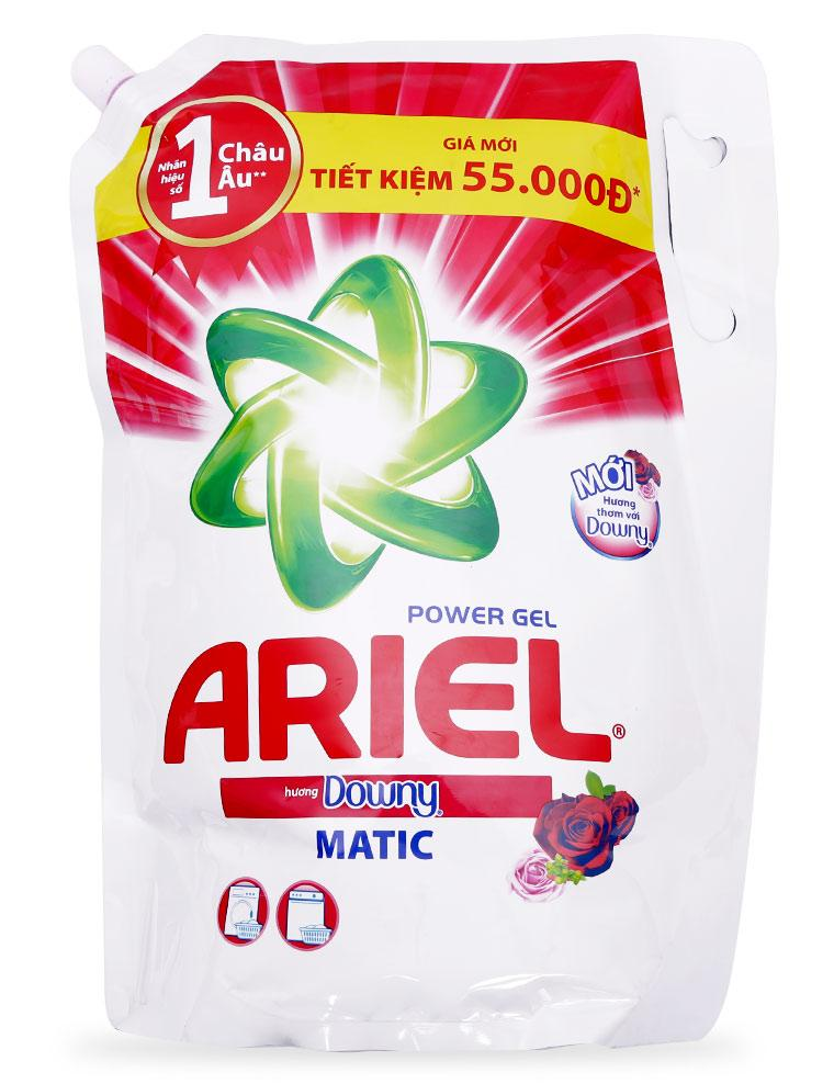 Túi nước giặt Ariel hương Downy đam mê Gel đậm đặc 1.4kg