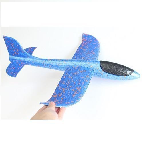 Hình ảnh Máy bay phi tay xốp dẻo chịu lực cao cấp ( Màu Xanh )