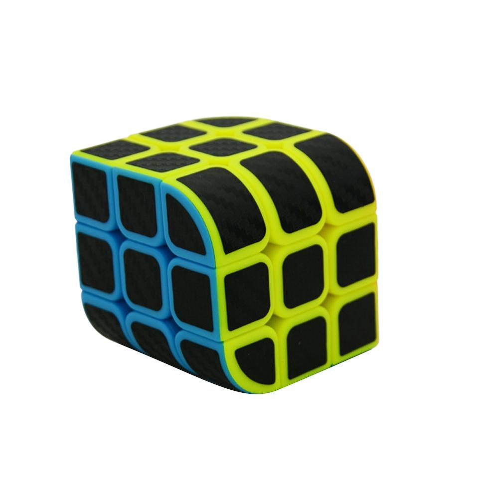 Hot Sale Children Kids Educational Toys Lefang Trihedron Magic Cube Puzzle Toy with Carbon Fiber Sticker for Competition Challenge