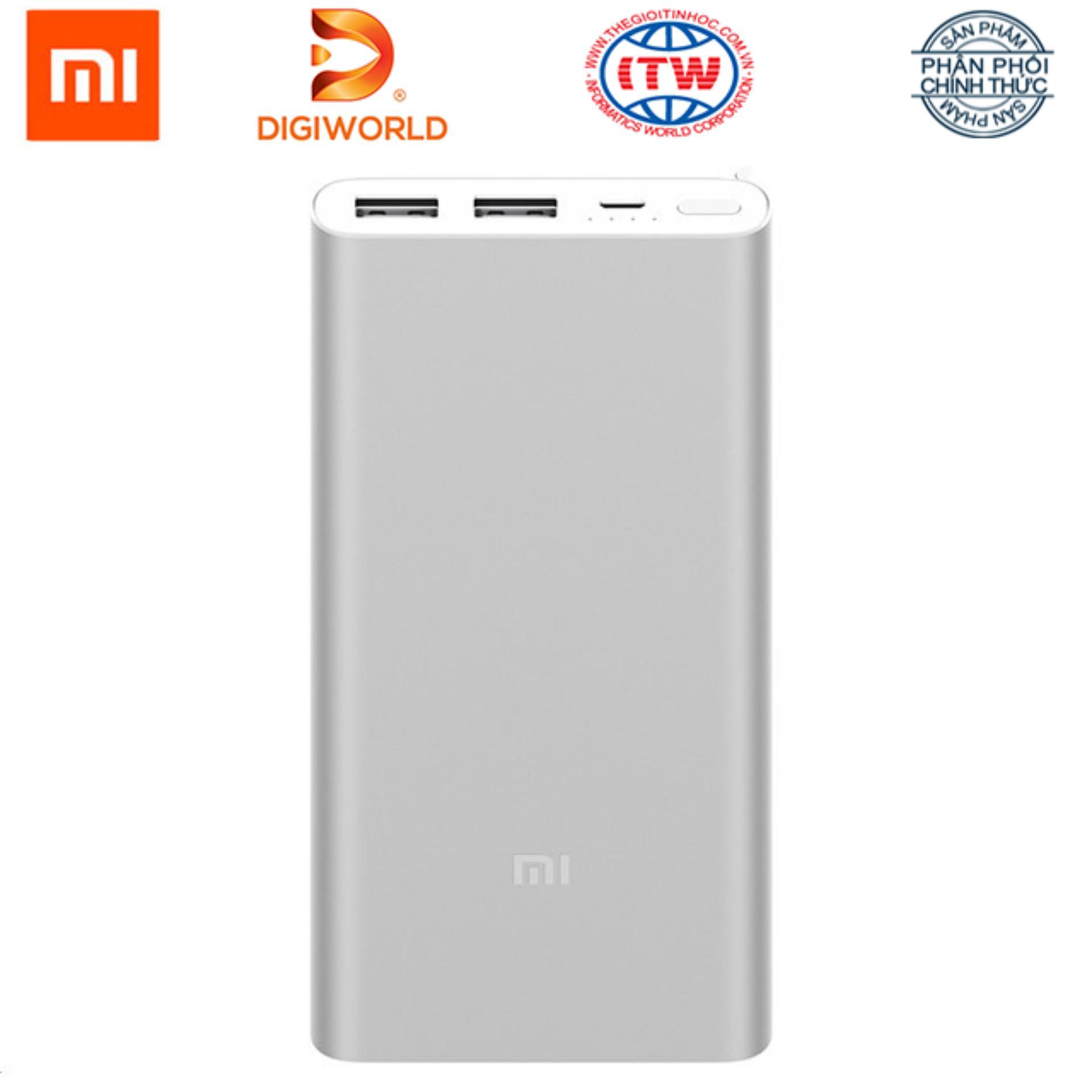 Hình ảnh Pin sạc dự phòng Xiaomi 10000mAh Gen 2s Quick Charge 3.0 - Hãng phân phối chính thức Digiworld