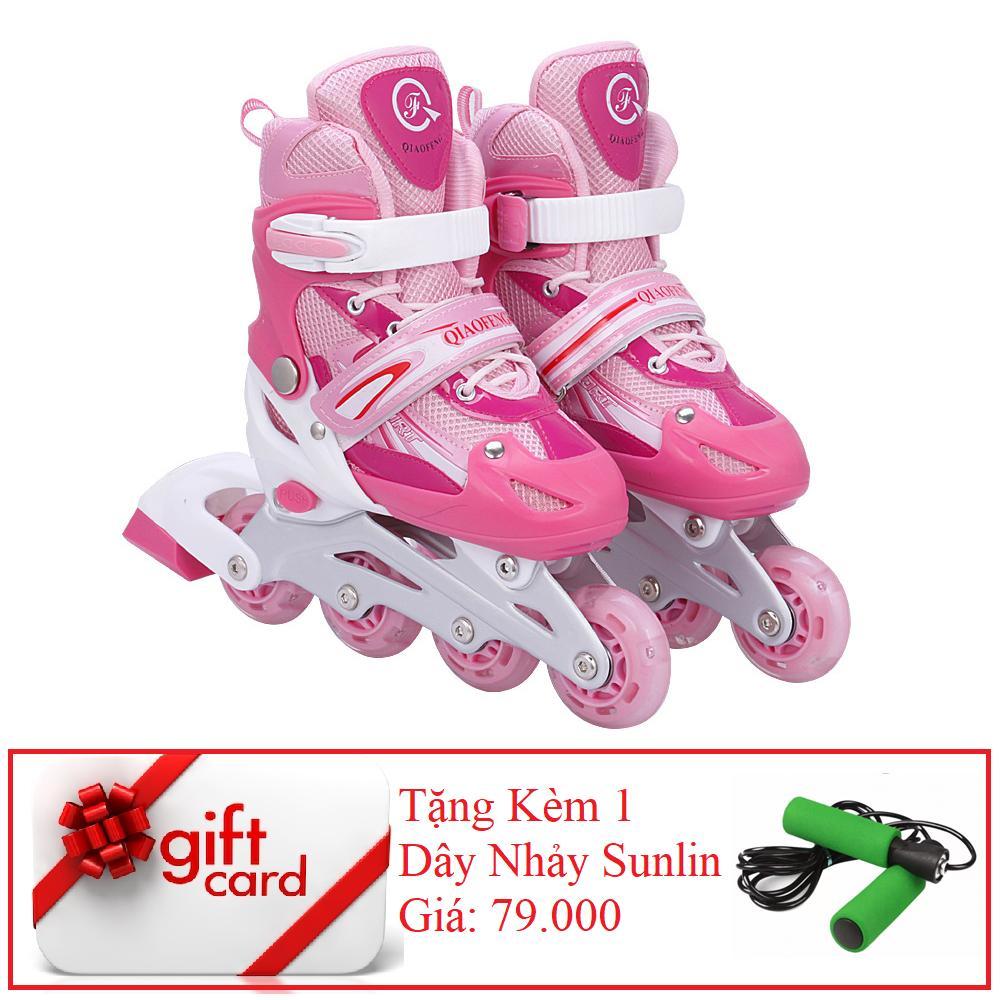 Giày Trượt Patin Gắn Đinh Phát Sáng Cao Cấp  - VIVA SPORT (SIZE M) +  ( TẶNG 1 DÂY NHẢY CAO CẤP )