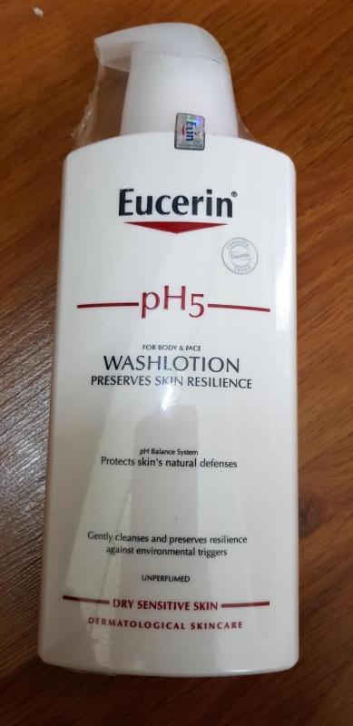 [Eucerin]Sữa tắm dạng gel cho da nhạy cảm không mùi Eucerin pH5 Washlotion 400ml nhập khẩu