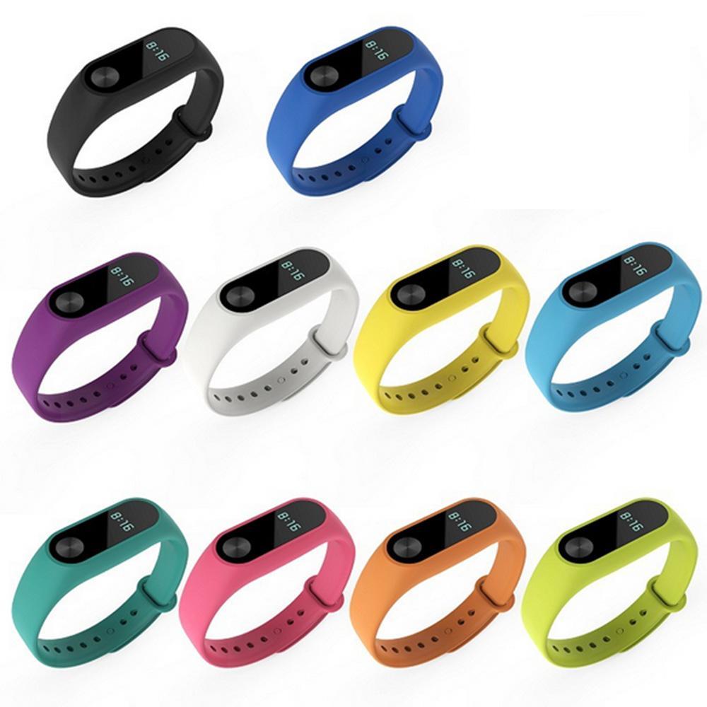 Hình ảnh 10 pcs Silicone Replacement Watchband Watch Band Strap for Xiaomi Mi Band 2 Smart Bracelet - intl