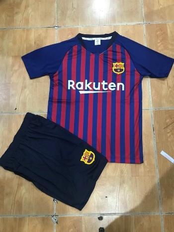 Hình ảnh Quần áo đá banh trẻ em CLB Barca sân nhà Mới 2018-2019