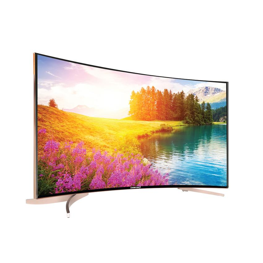 Smart Tivi Led màn hình cong Asanzo 55inch 4K Ultra HD - Model SU55S6 (Đen)
