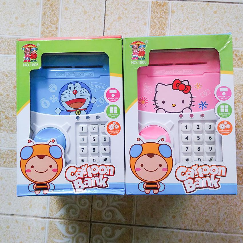 Két sắt mini đồ chơi thông minh Cartoon Bank – Dành cho bé 3 tuổi trở lên