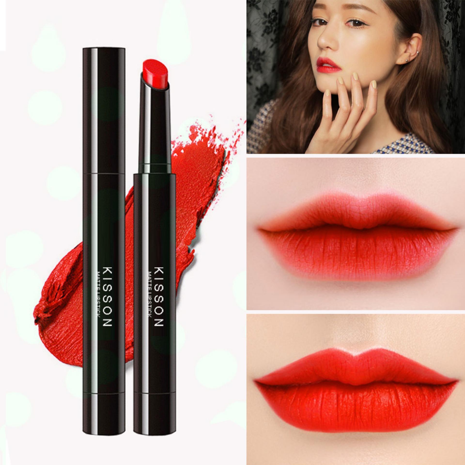 Hình ảnh Son lì KISSON Matte Lipstick mã KN03 ( màu đỏ cam)