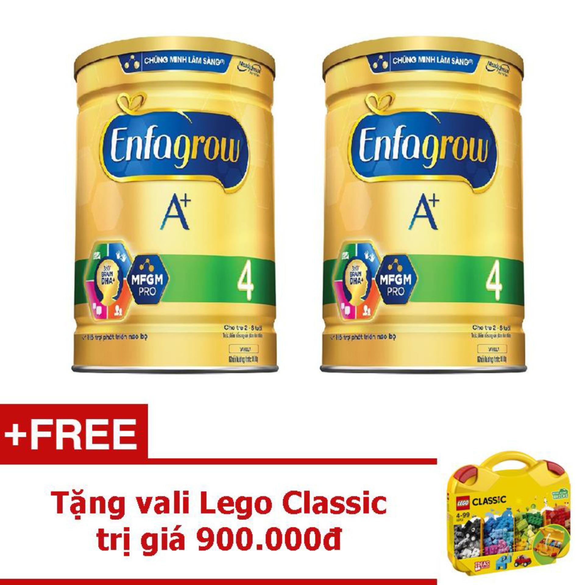 Hình ảnh Bộ 2 Sữa bột Enfagrow A+ 4 DHA+ và MFGM 1.8kg + Tặng vali Lego Classic trị giá 900.000đ