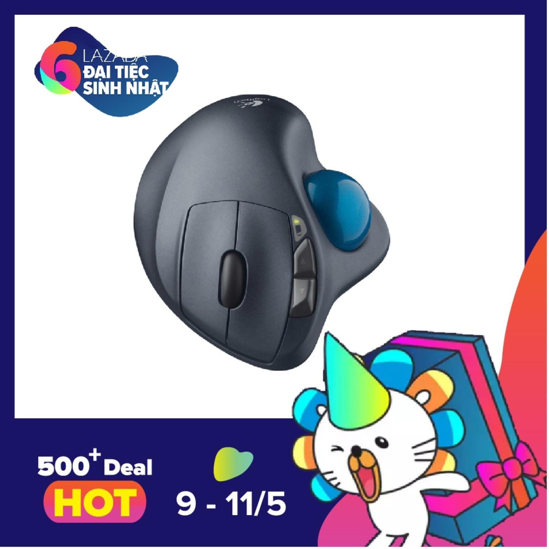 Chiết Khấu Chuột Laser Khong Day Logitech Trackball M570 Đen