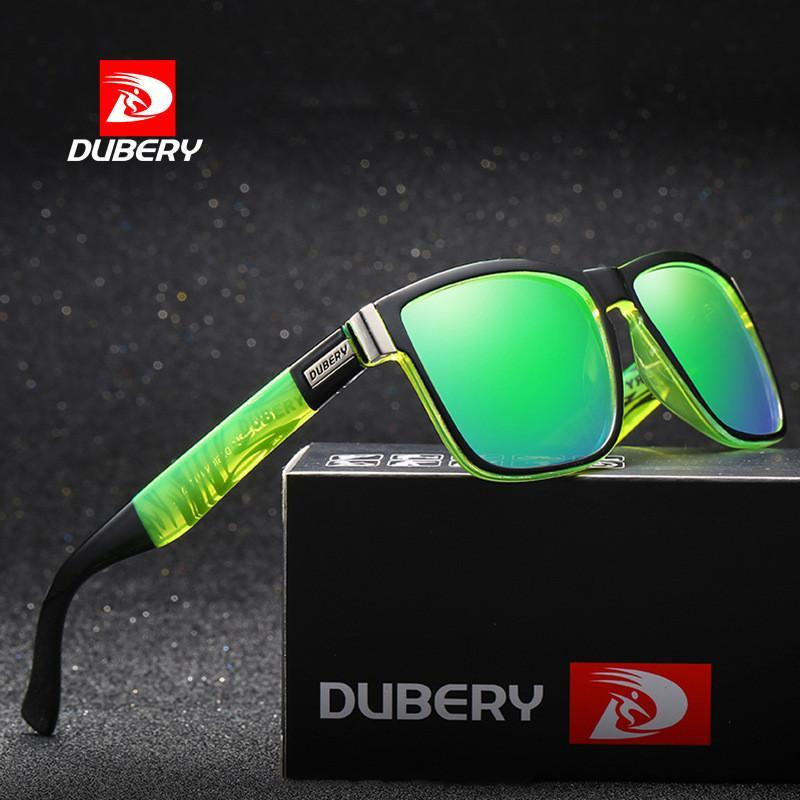 Dubery Kacamata Hitam Terpolarisasi Pria Hiasan Mata Pengemudi D518