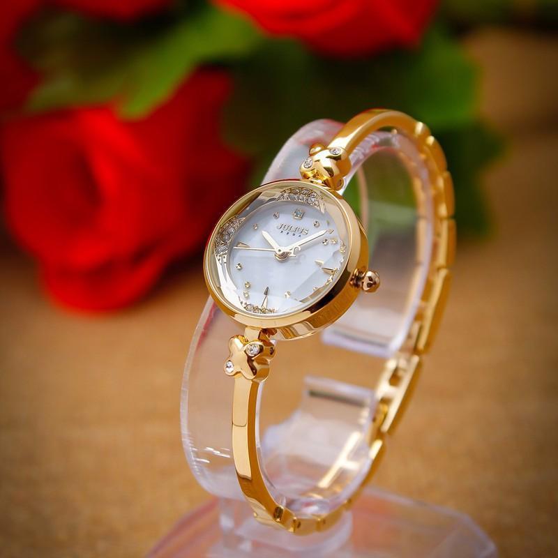 Nơi bán Đồng hồ nữ dây kim loại không rỉ JU1084 vàng - Thương Hiệu