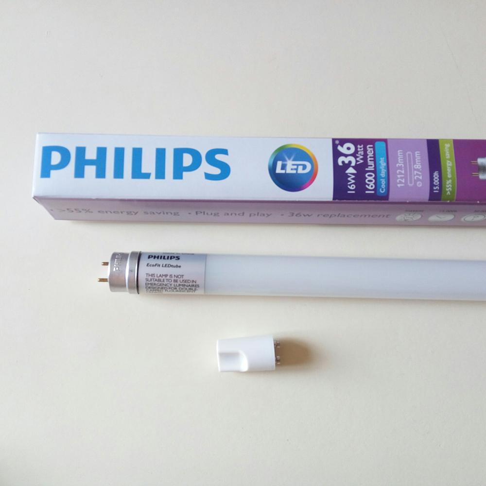 Cửa Hàng Bộ 2 Bong Đen Philips Ecofit Ledtube 1M2 1200Mm 16W 765 T8 Ap C G Anh Sang Trắng Trắng Rẻ Nhất