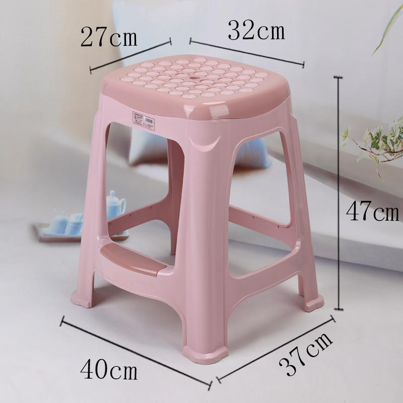 New Plastic Stool Thick Adult Household can zhuo deng Bar Stool Modern Minimalist Bathroom Living Room Bench Cooked Glue Chair