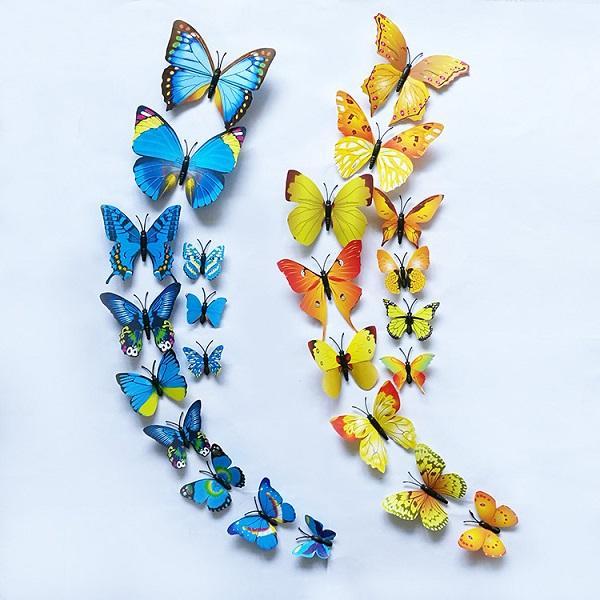 Bộ 12 bướm dán tường loại đẹp