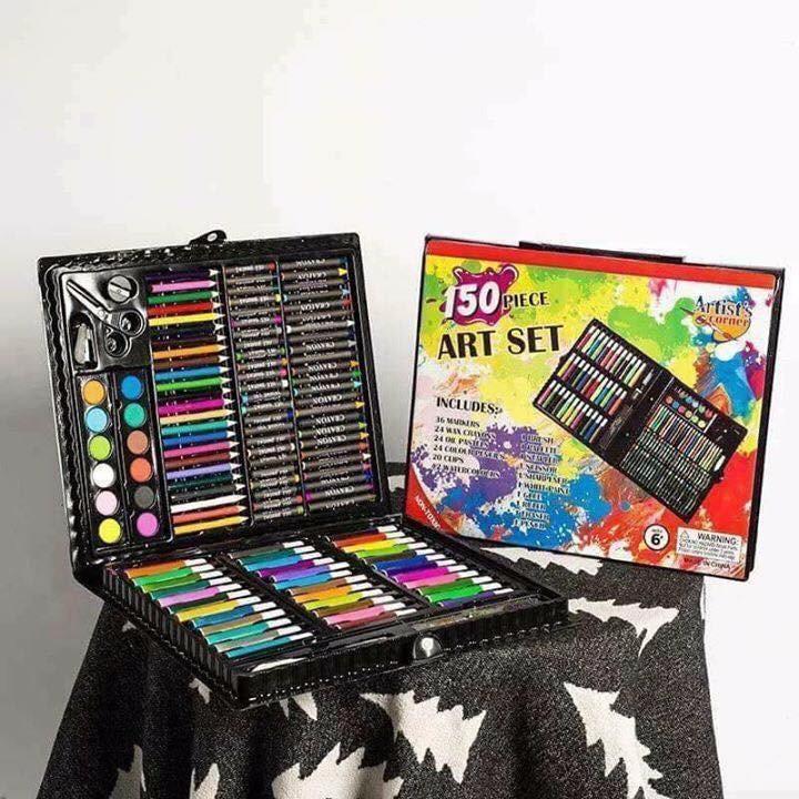 Hình ảnh Set hộp bút màu 150 chi tiết cho bé thỏa sức sáng tạo