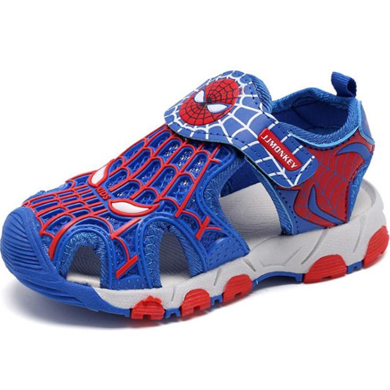 0cf701f6a7e7d6 Spiderman boy men Sandals Closed-toe Sandals Big Boy Summer Sports Sandals  Soft Bottom 2019