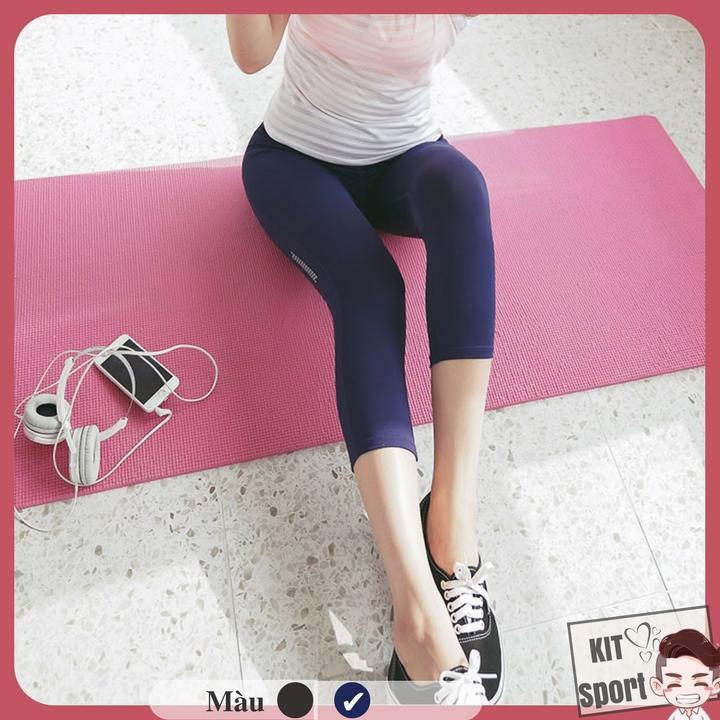 Ôn Tập Trên Quần Lửng Legging Thể Thao Nữ Guru Hang Nhập Khẩu Đồ Tập Quần Ao Gym Thể Dục Thể Hinh Yoga Kit Sport