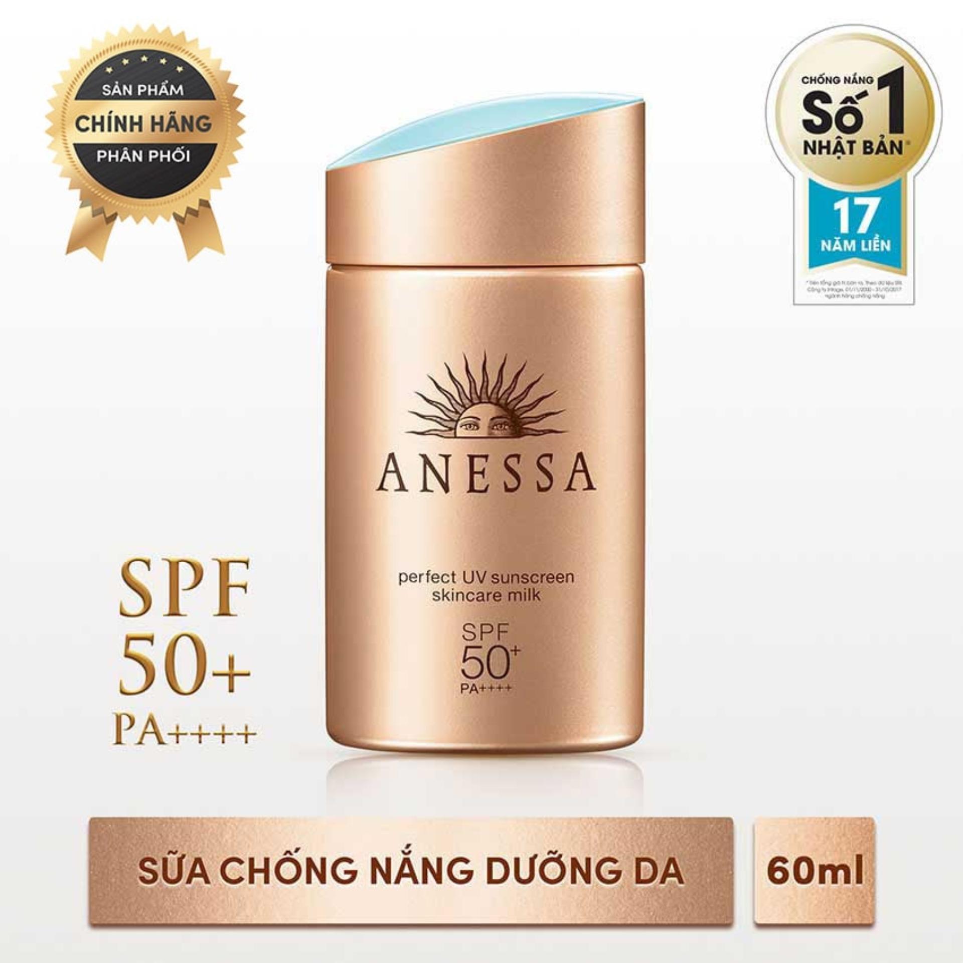 Hình ảnh [FREESHIP - VOUCHER GIẢM THÊM 10%] [HOT] Sữa chống nắng bảo vệ hoàn hảo Anessa Perfect UV Sunscreen Skincare Milk - SPF 50+, PA++++ - 60ml