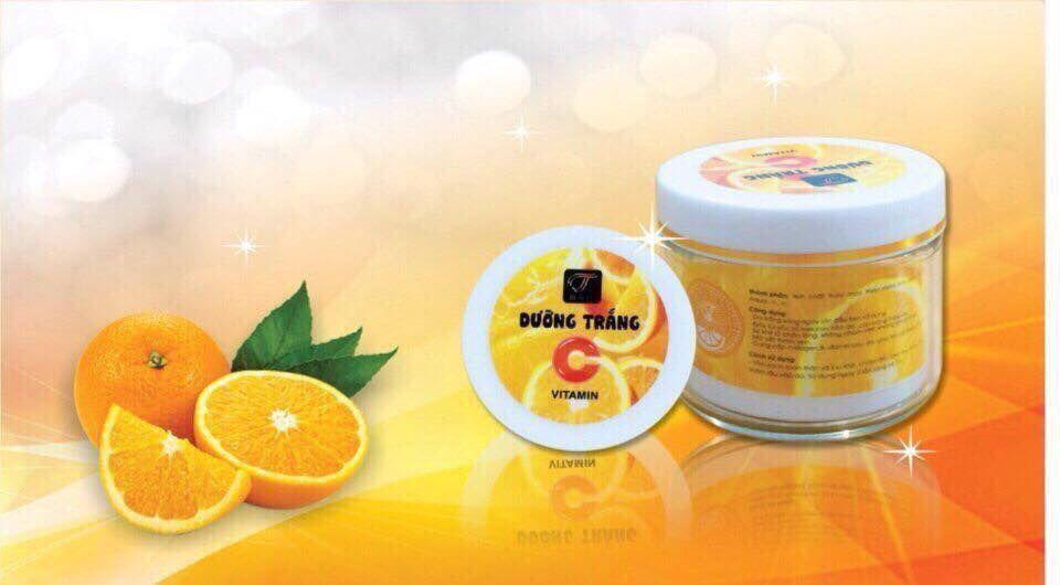 Hình ảnh Bộ tắm trắng và dưỡng thể trắng da toàn thân Cam - Vitamin C (Bột tắm trắng + kem dưỡng)