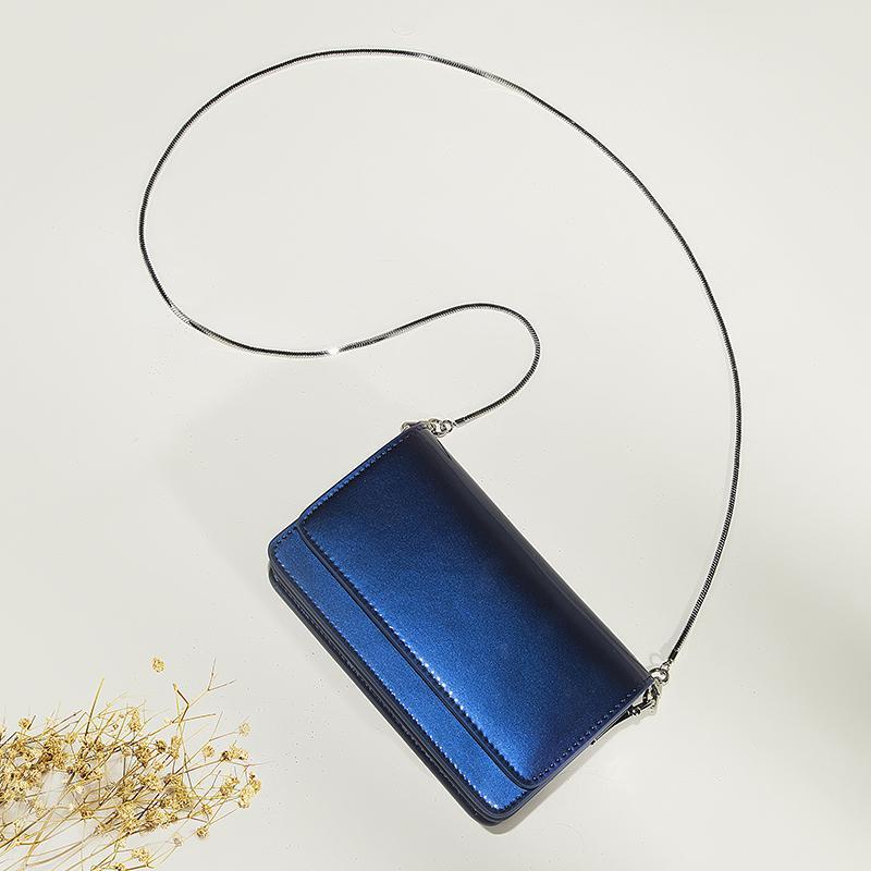 ASANL Leather Square Sling Bag 2019 New Style Bags Mini Fairy Korean Style Chain Envelope Crossbody Bag