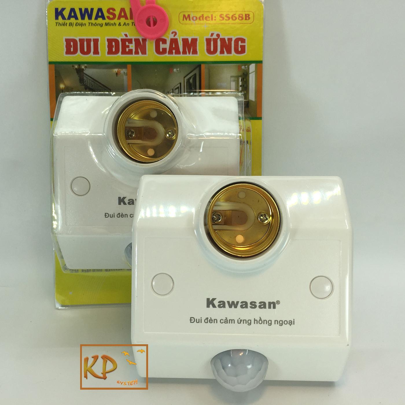 Combo 2 đui đèn cảm ứng chuyển động, cảm ứng hồng ngoại Kawa SS68