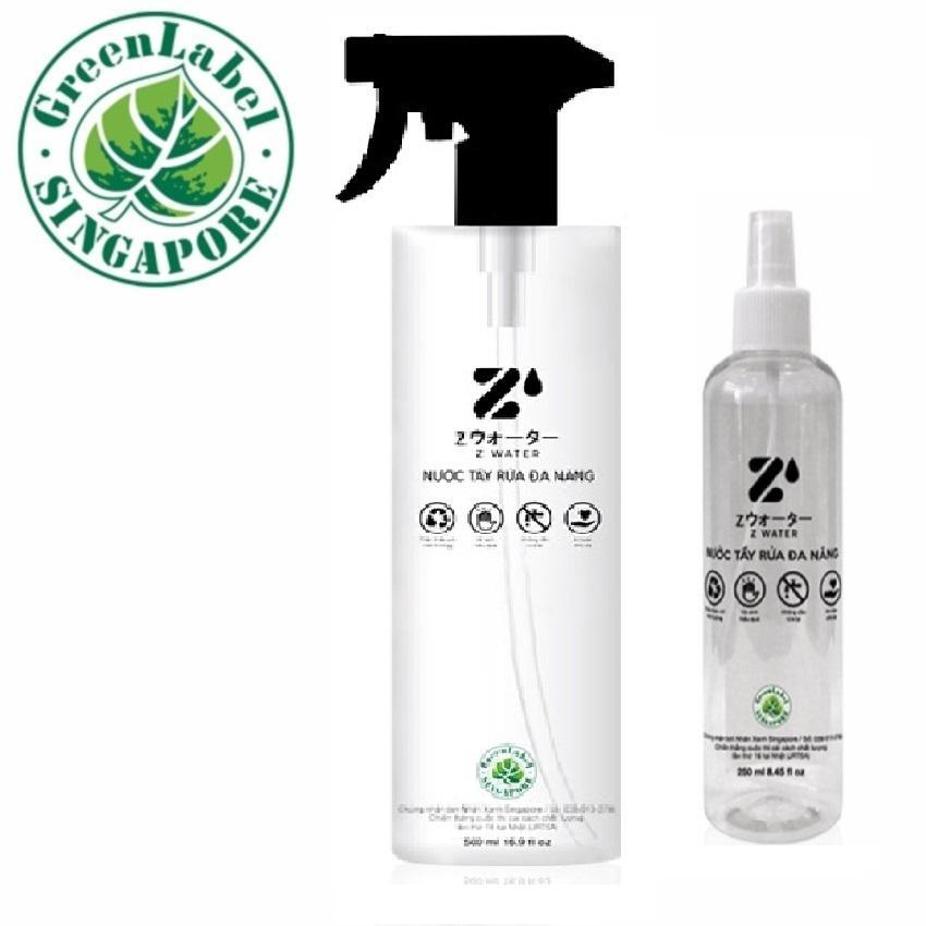Hình ảnh Combo 2 chai nước lau bếp Z Water không hóa chất