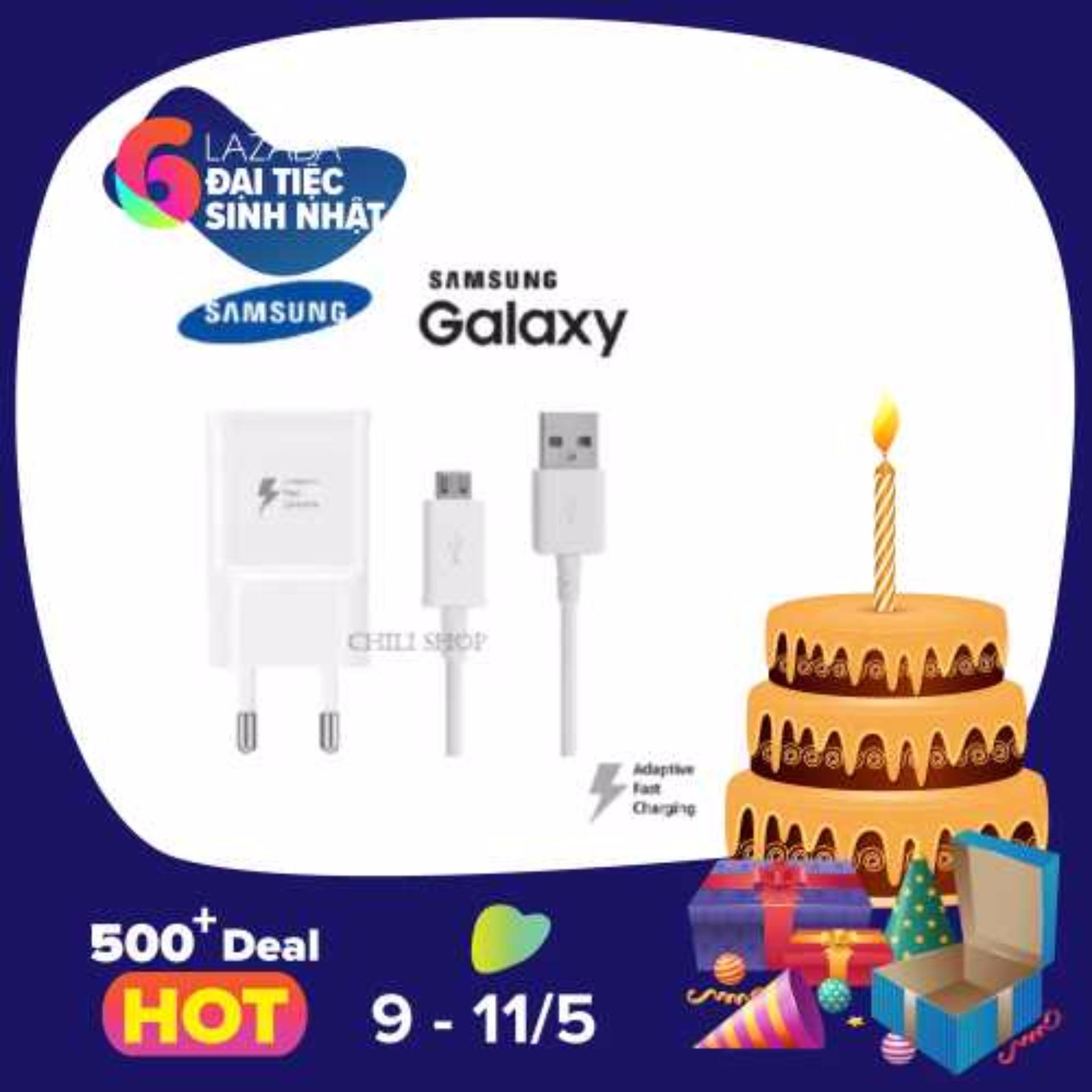 Bộ Củ Cốc Day Cap Sạc Nhanh Samsung Galaxy A9 Pro Trắng Rẻ