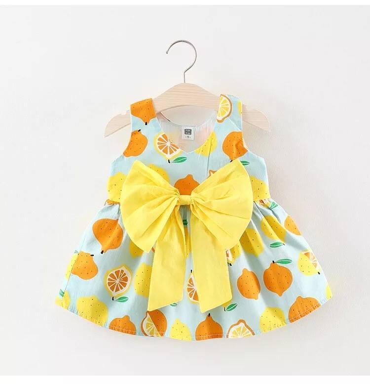 Hình ảnh Váy cổ tim - thiết kế nơ sành điệu- vải chất thô lụa - dáng tiểu thư cho bé gái (hàng bán shop và siêu thị)