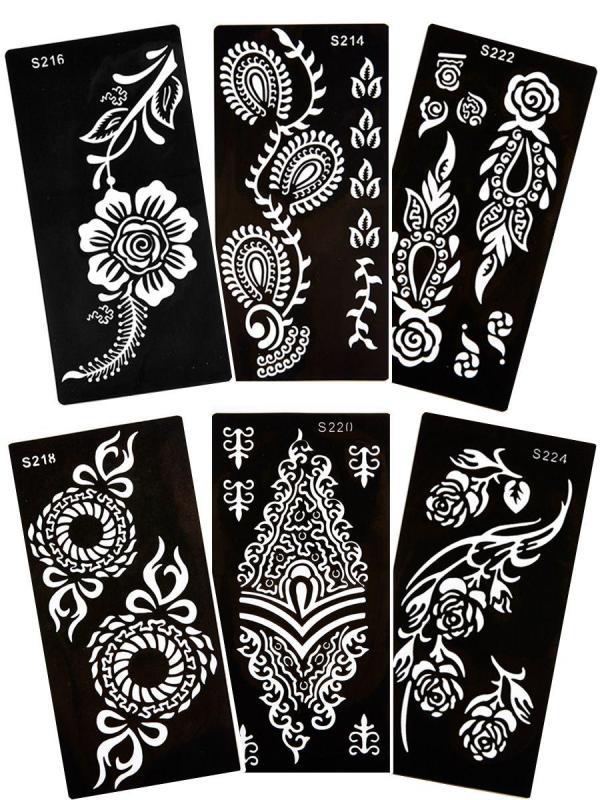 1 miếng khuôn vẽ henna size lớn nhập khẩu