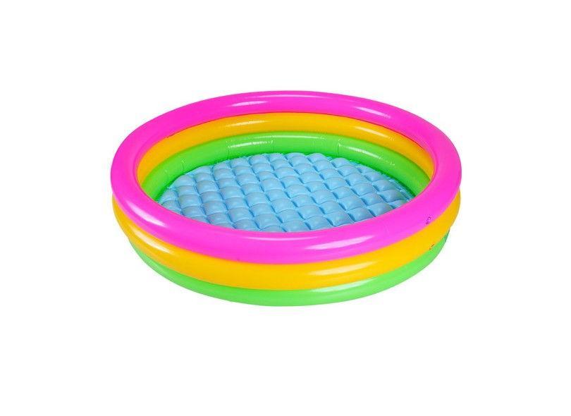 Mã Khuyến Mại Bể Bơi Phao Tròn Cầu Vồng đáng Yêu Cho Bé 86x25cm 58924 Tặng Miếng Vá