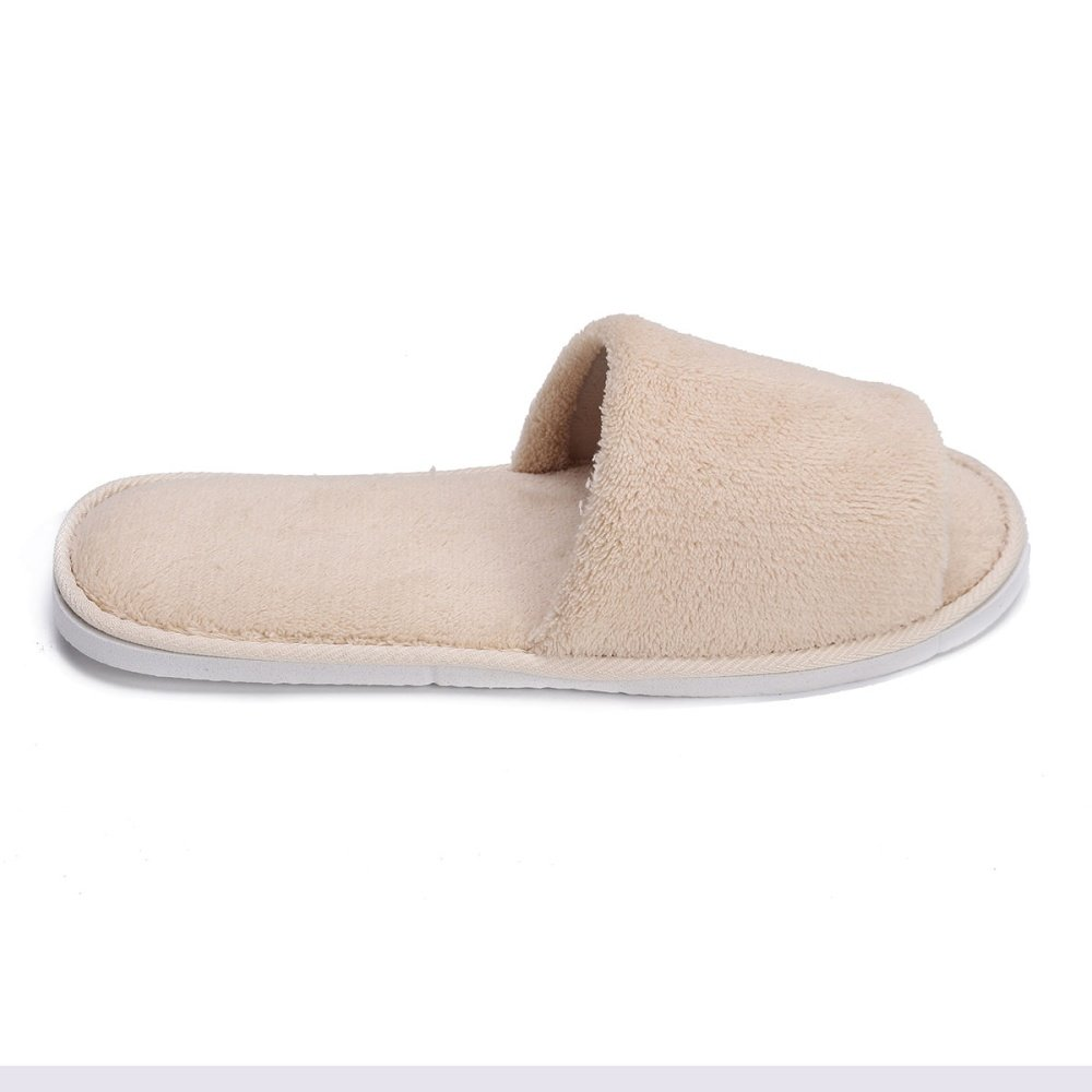 Men Women Coral Velvet Open Toe Hotel Home Spa Slippers Travel Shoes Thick 7mm Grey Source