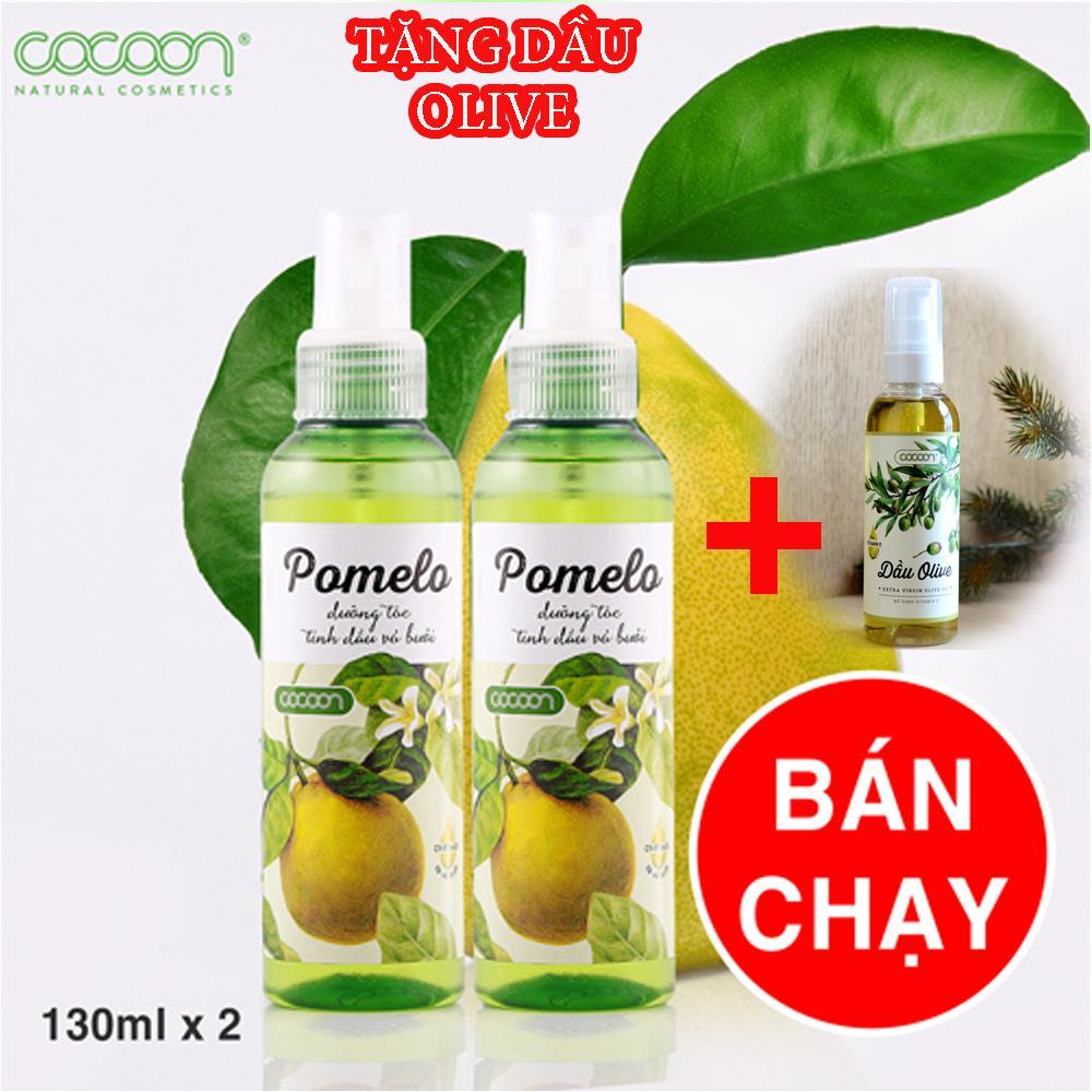 Hình ảnh Bộ 2 Chai Xịt Tóc Bưởi Pomelo Tặng 1 Dầu Olive Cocoon