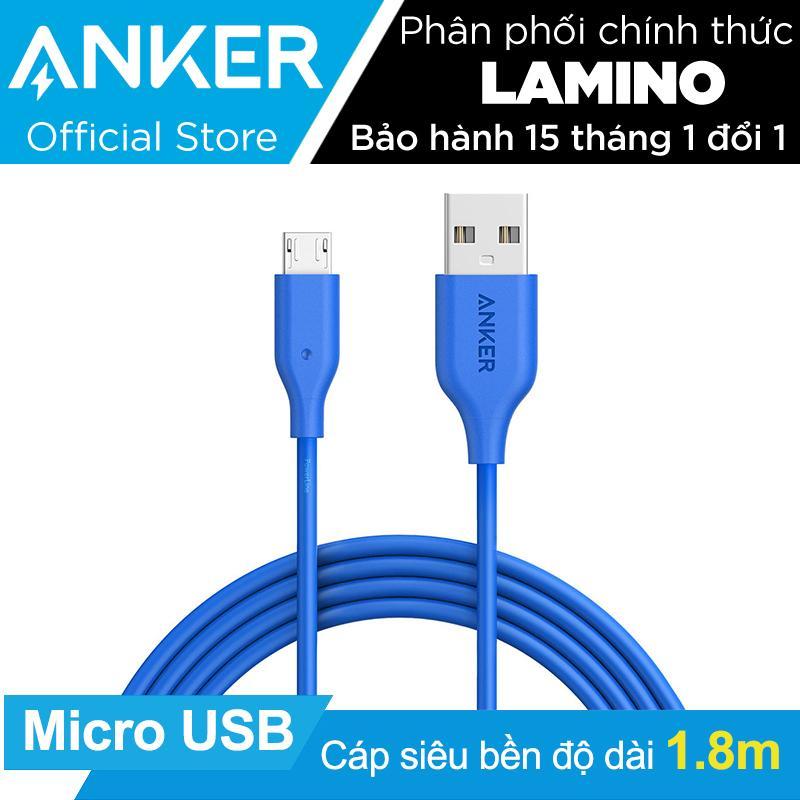 Mua Cap Sạc Sieu Bền Anker Powerline Micro Usb 1 8M Xanh Dương Hang Phan Phối Chinh Thức Hồ Chí Minh