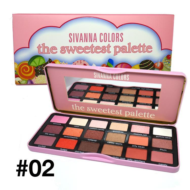 Bảng Màu Mắt 18 ô SIVANNA COLORS The Sweetest & Chocolate Palette (Số 2) tốt nhất