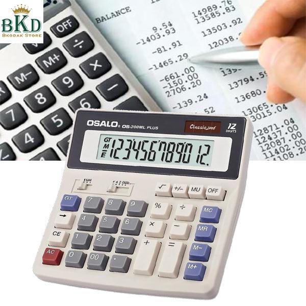 Hình ảnh Office Portable 12-Digits Display Desktop Digital Solar Power Calculator