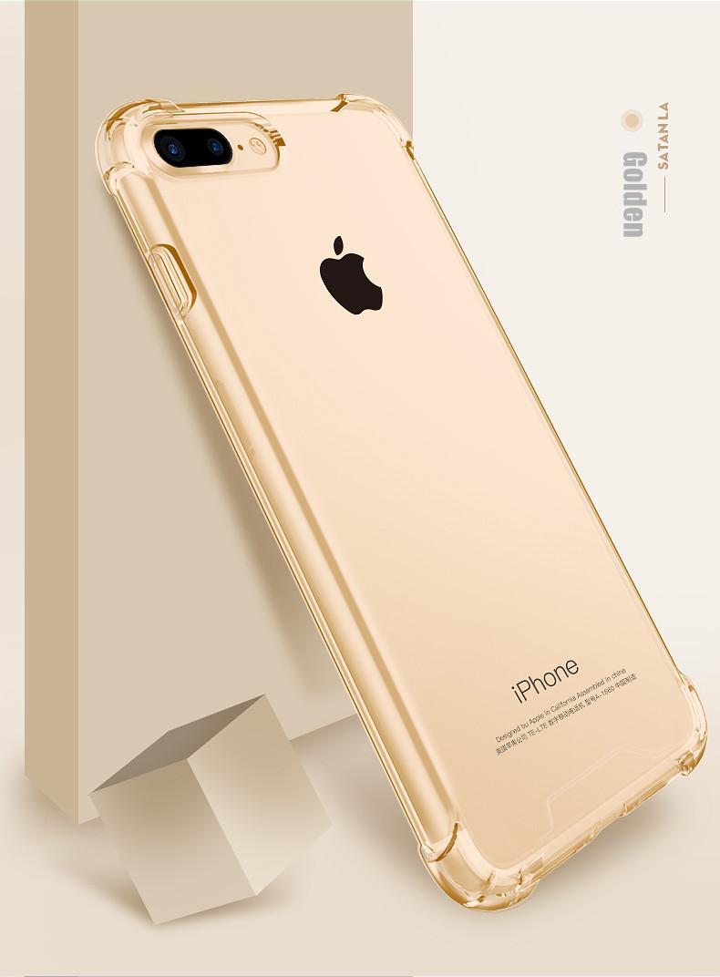 MaxGear Shockproof Armor Batal Kasus Untuk iPhone 7 6 6 s 8 Ditambah Perlindungan Telepon Silikon Lembut Transparan Kasus Telepon Penutup Belakang Ruang Capa Abu-abu