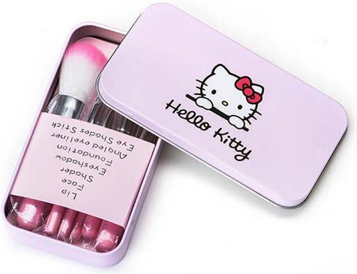 [ANNY] Bộ Cọ Trang Điểm Hello Kitty 7 Cây 2