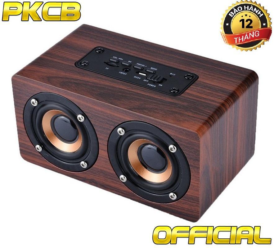 Hình ảnh Loa gỗ bluetooth HIFI super bass stereo speaker âm thanh nổi PKCB-G4 gắn thẻ nhớ